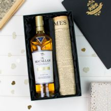 Macallan Double Cask Gold and Original Newspaper
